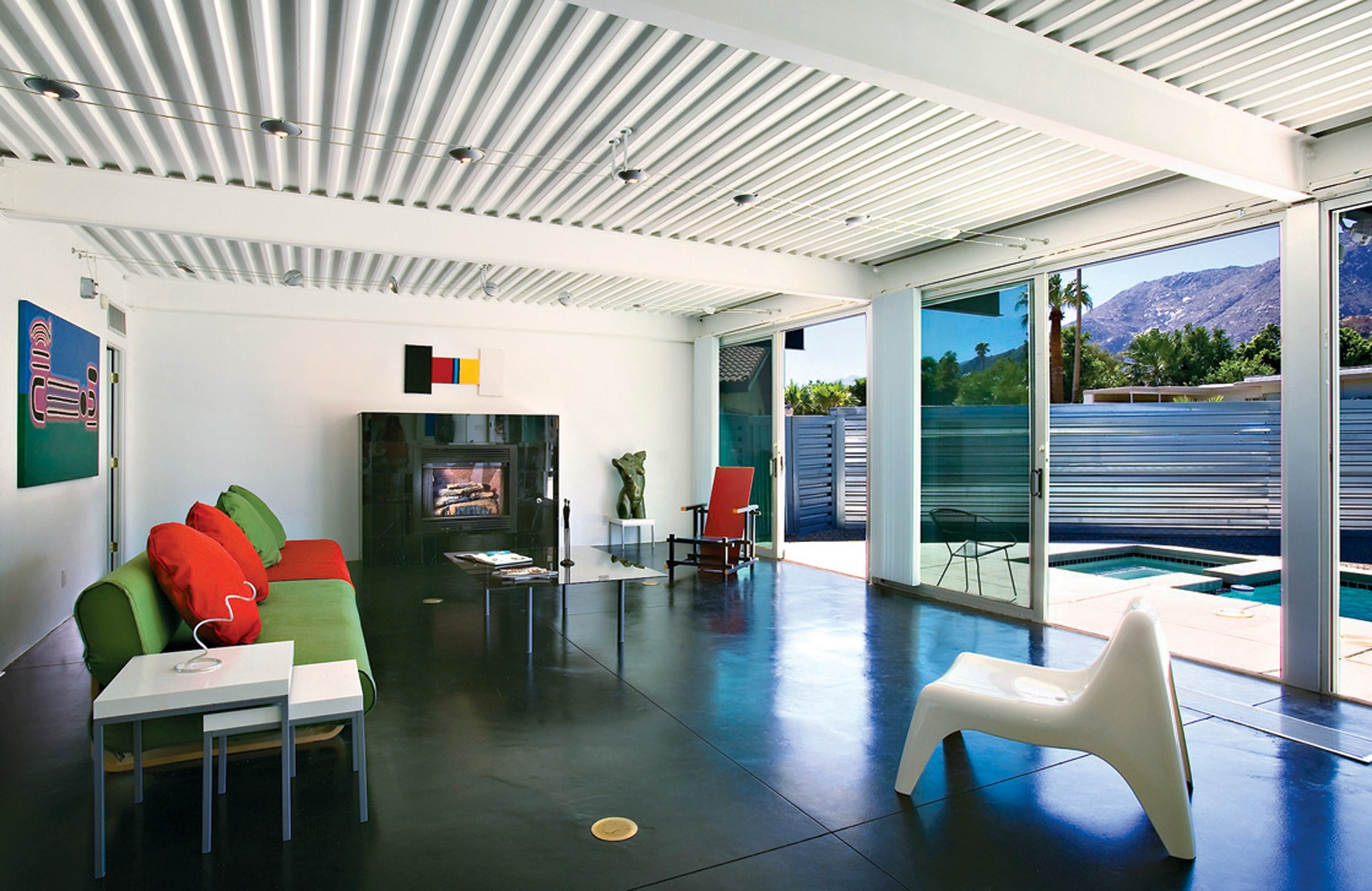 Patrick Seabol Palm Springs Modular Modernist Homes Living Room