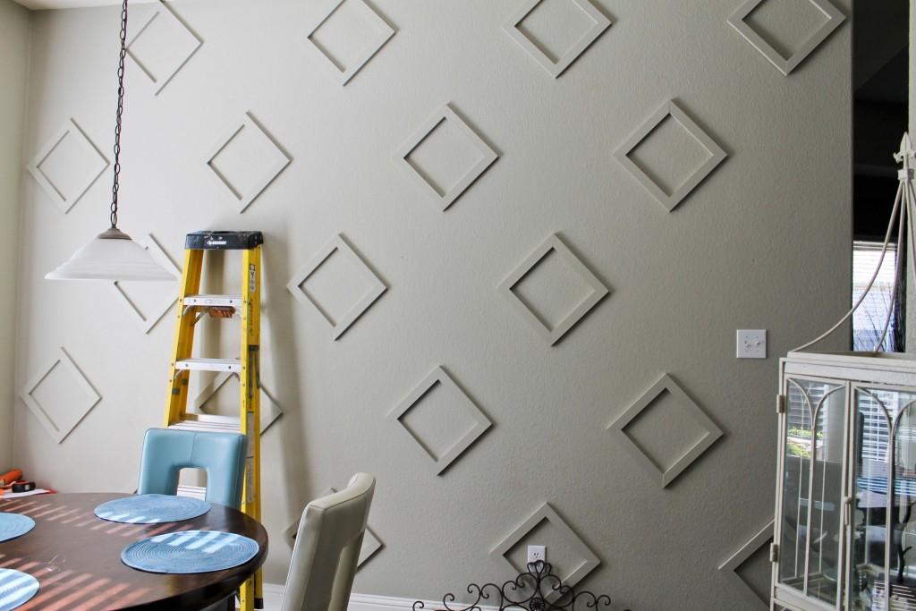 DIY Diamond Wall Architectural Feature Progress 1