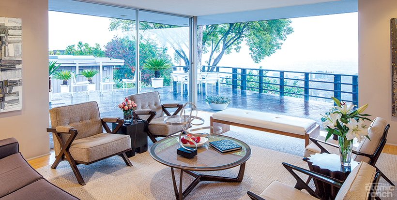 Langford palm springs house sitting room deck