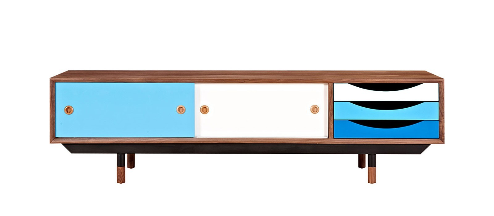 Gradient TV Stand in Blue from Dot & Bo - Spring Colors Retro Roundup