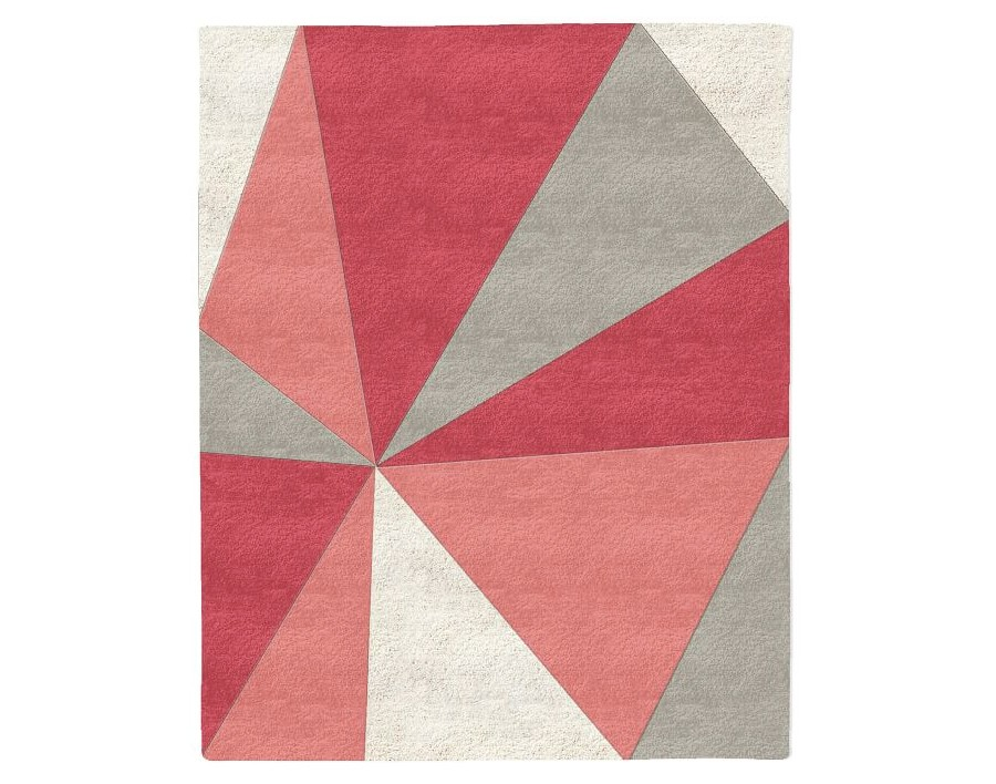 Kaleidoscope Wool Rug in Macaroon Pink from West Elm - Spring Colors Retro Roundup