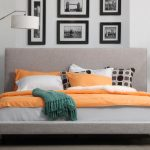 Nixon Upholstered Panel Bed by AllModern - Spring Colors Retro Roundup