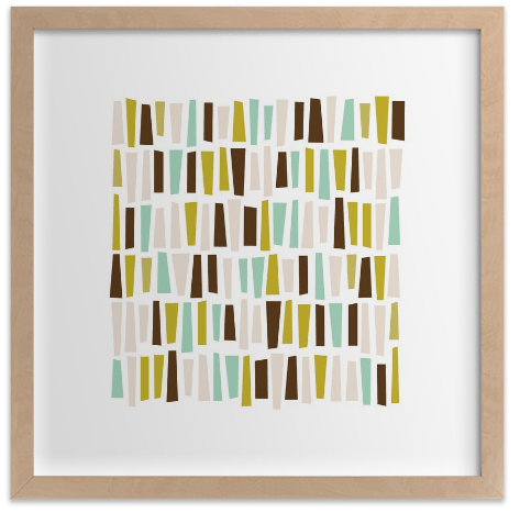 In A Row Sea Glass Minted Graphic Art Prints