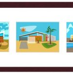 Nat-Reed-Googie-Triptych-Wall-Art