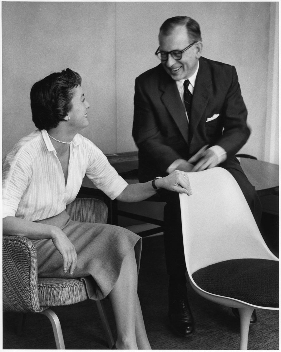 Florence Knoll with Eero Saarinen