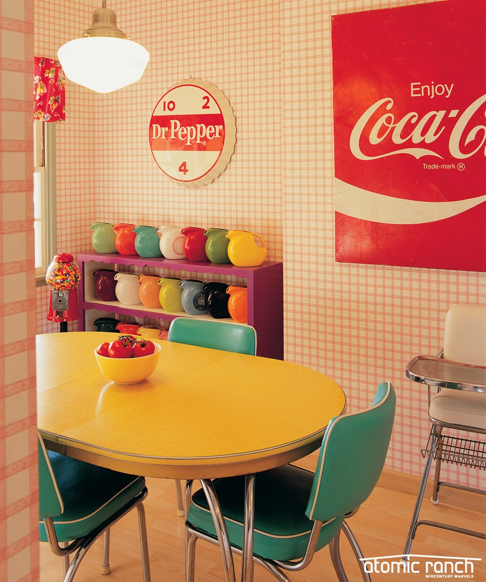 Get The Look Of This Traditional Home Retro Diner Dining Area