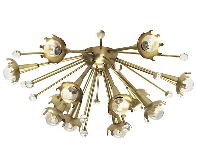 midcentury lighting sputnik flushmount wall sconce from Lumens