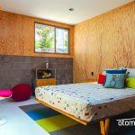 Fun midcentury modern kids room