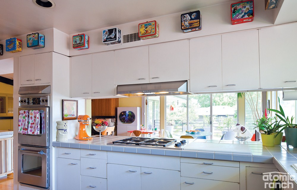Atomic Kitchen With Fun Pop Culture Memorabilia