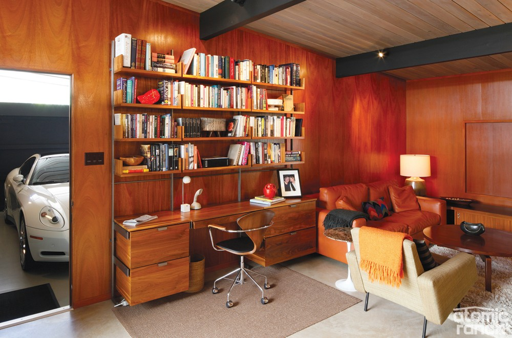 This Midcentury Office In An Eichler Tract Home Features Wood Paneling And  Classic Midcentury Furniture.