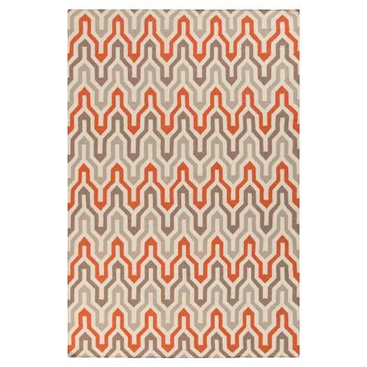 Fallon+Orange%2FRed+Rug