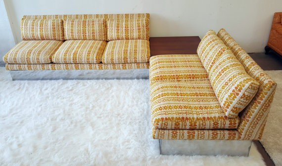 A retro '70s style couch will make your home feel midcentury.
