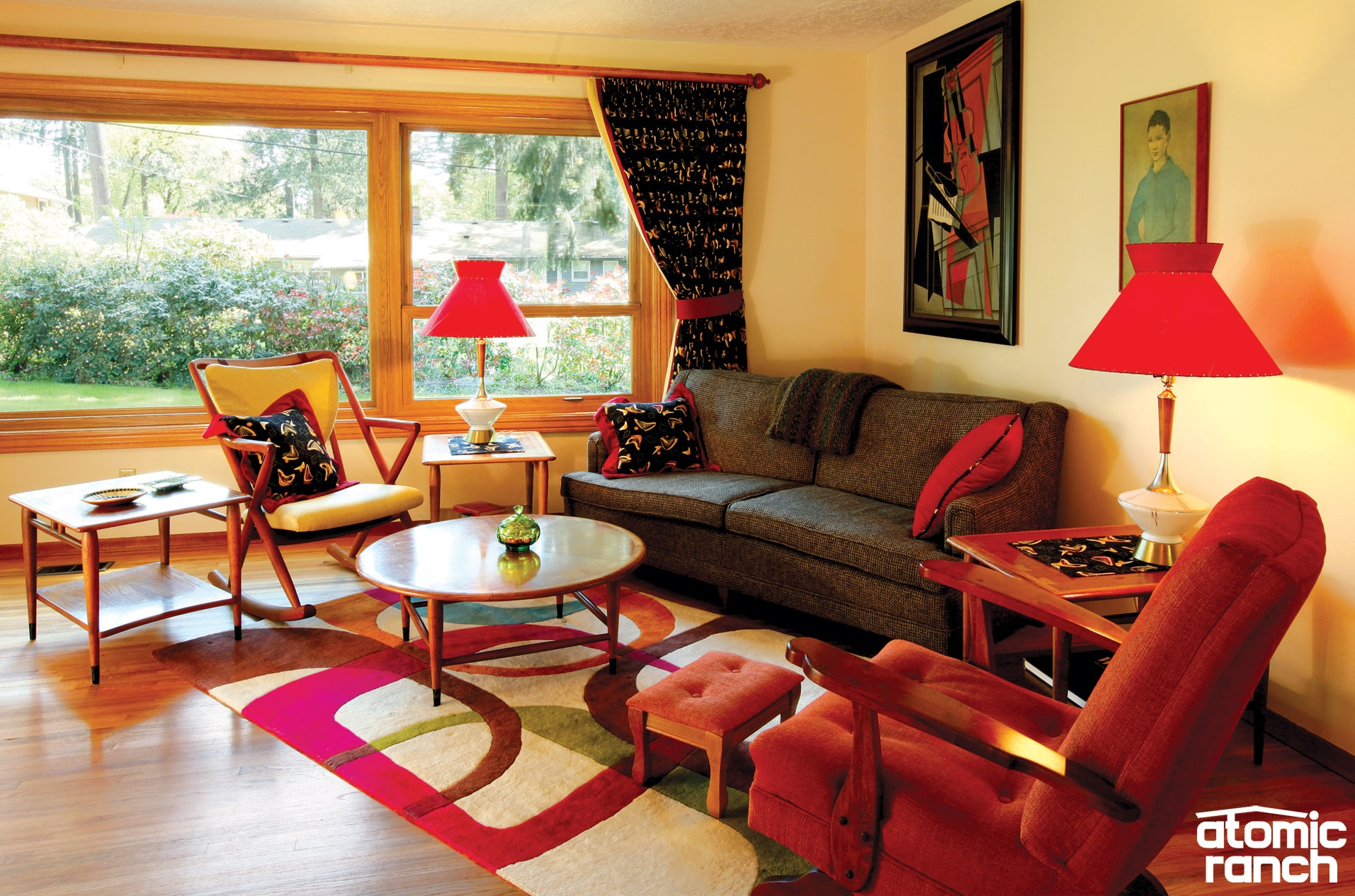 Use Big Patterns To Invoke The Midcentury Feel In Your Home.