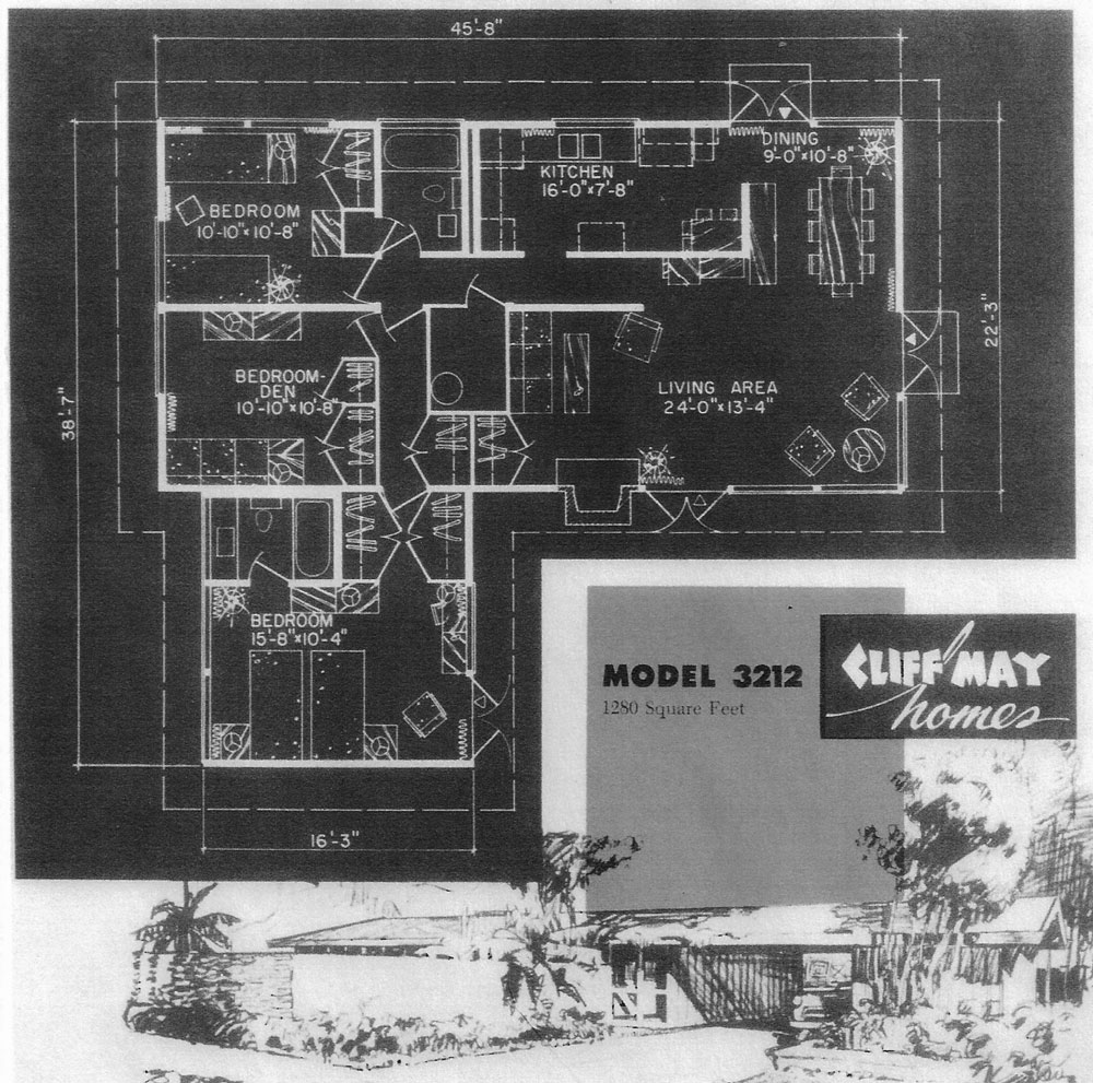 cliff may tract mid century house plans