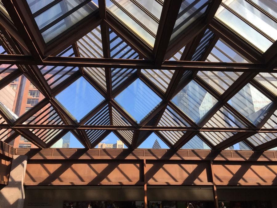 Ford Foundation building atrium glass cap