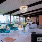 midcentury renovation living room