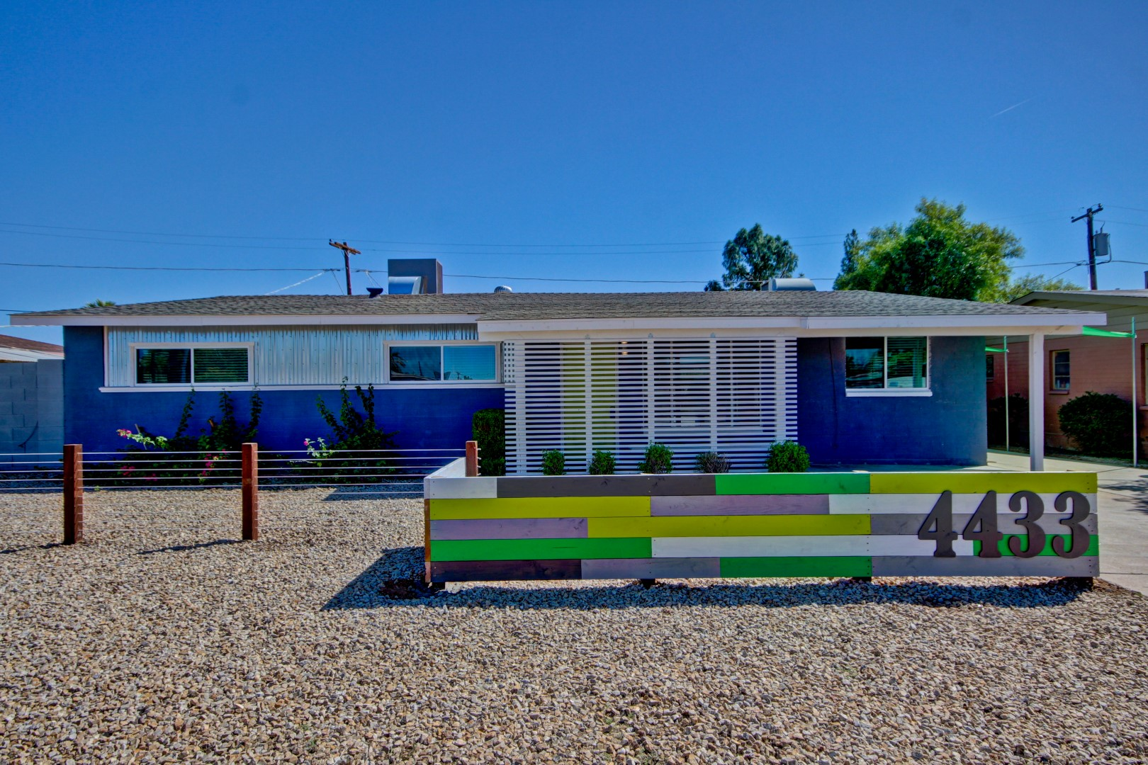 Refreshed midcentury curb appeal