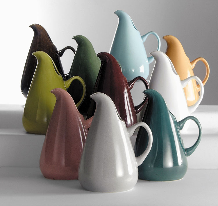 American Modern water pitchers designed by Wright.