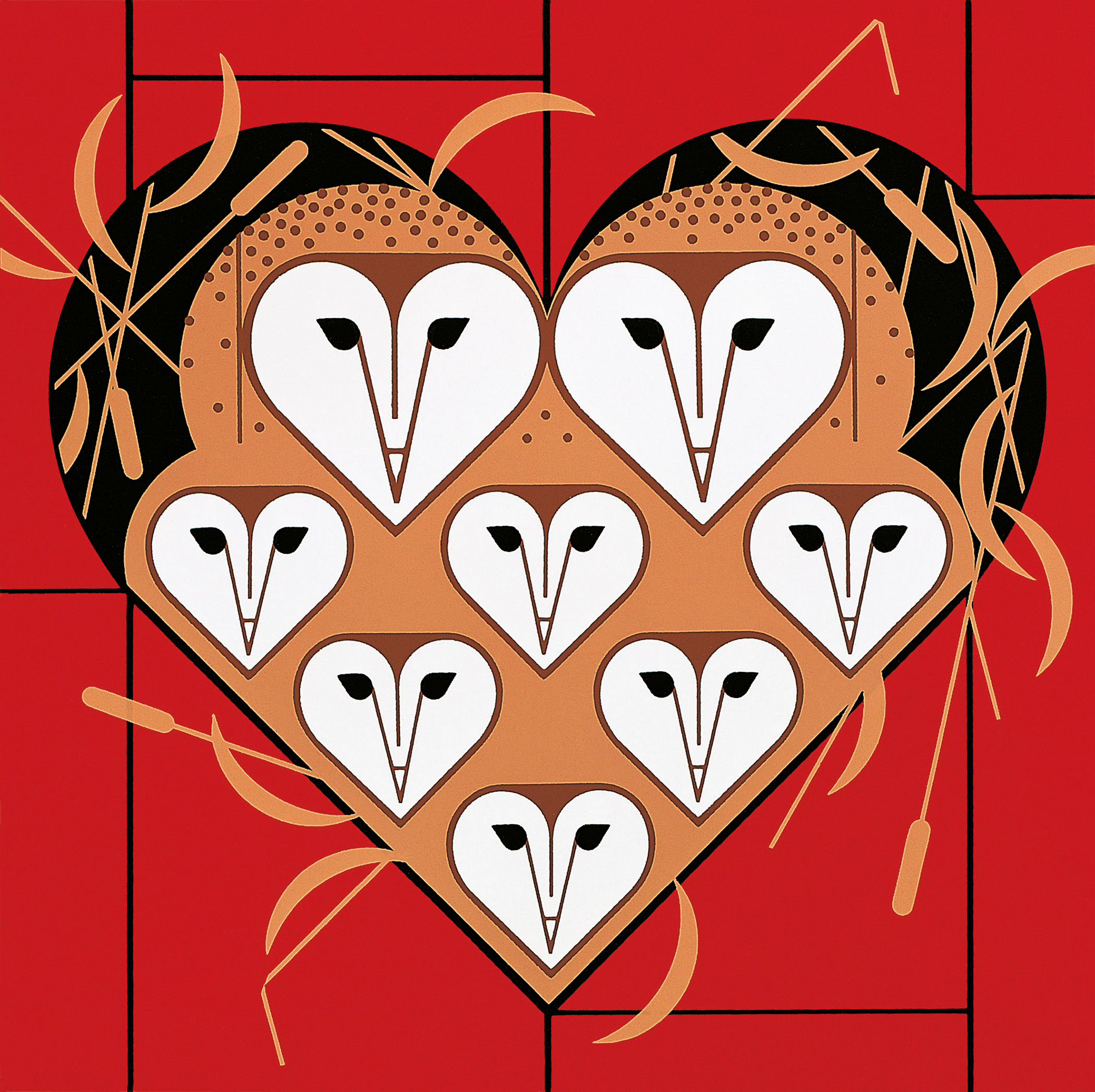 Charley Harper Beguiled_by_the_Wild_Vowlentine