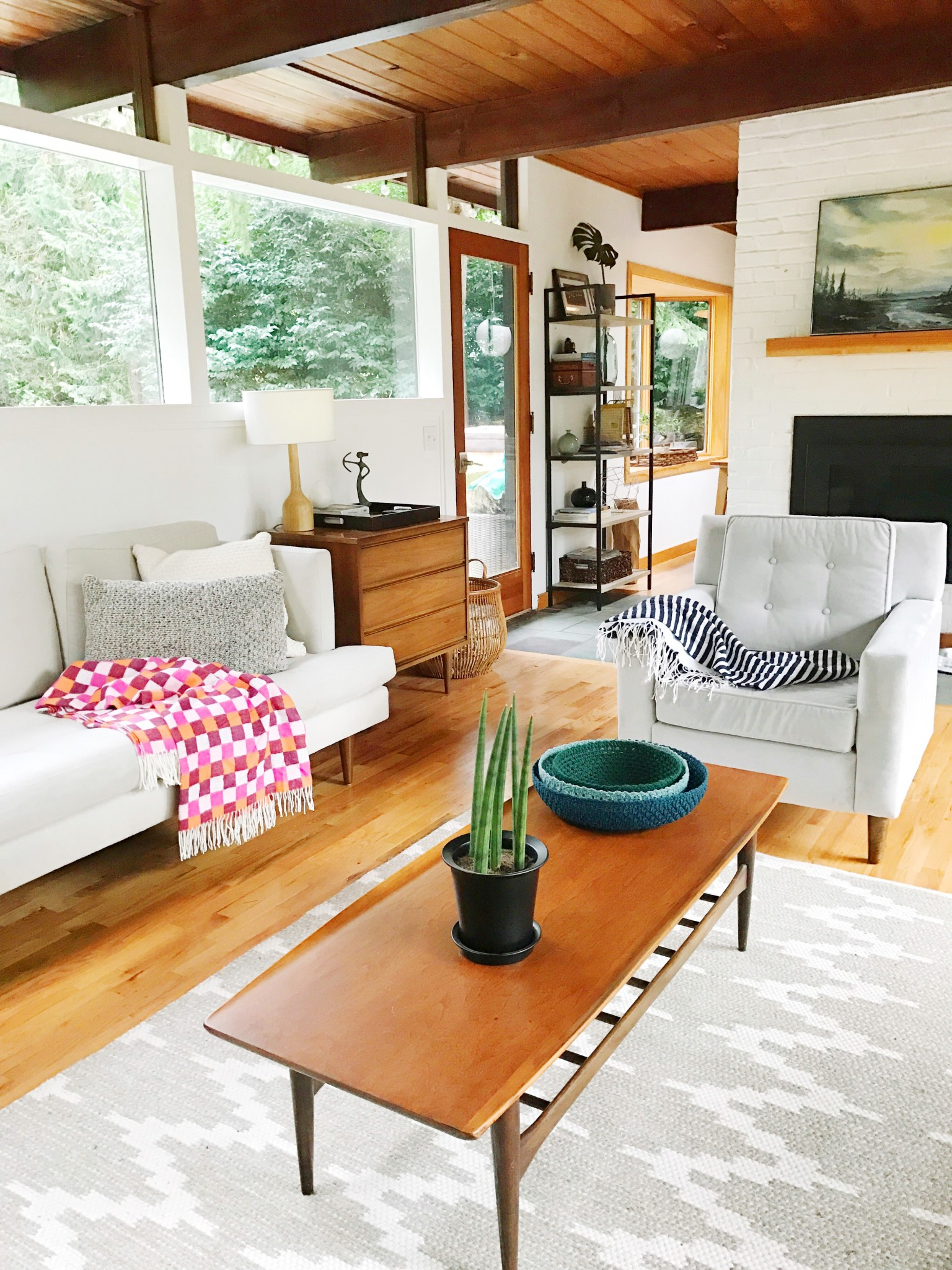 Audrey McGill living room with an updated design approach
