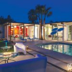 Palm Springs makeover pool in a midcentury DIY home