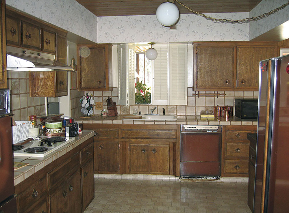production house kitchen before