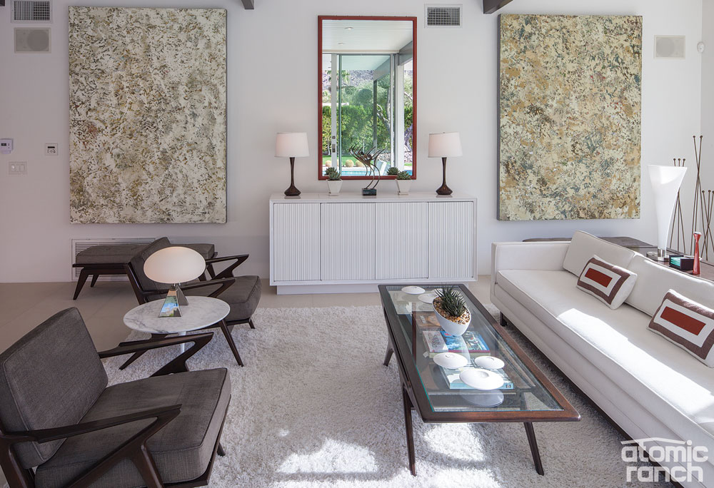 Palm Springs makeover living room
