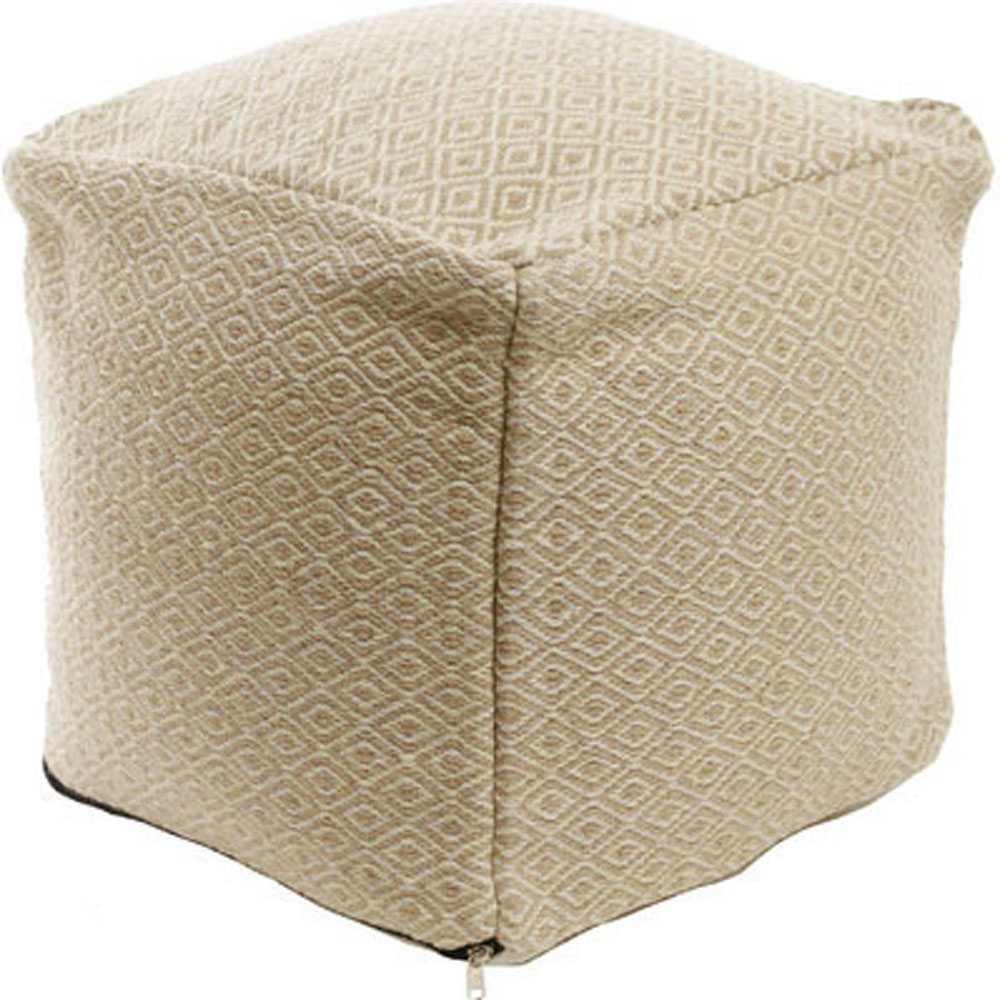 tan diamond pattern ottoman