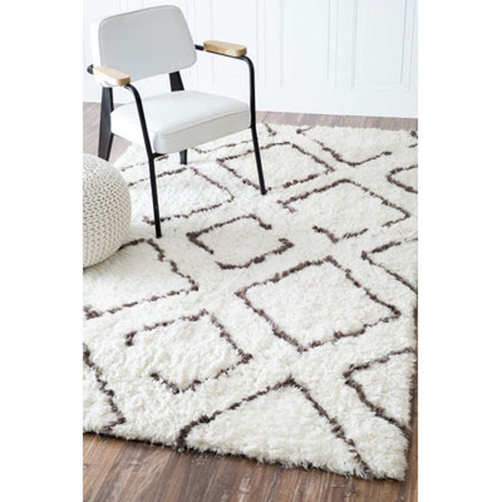 diamond shag rug
