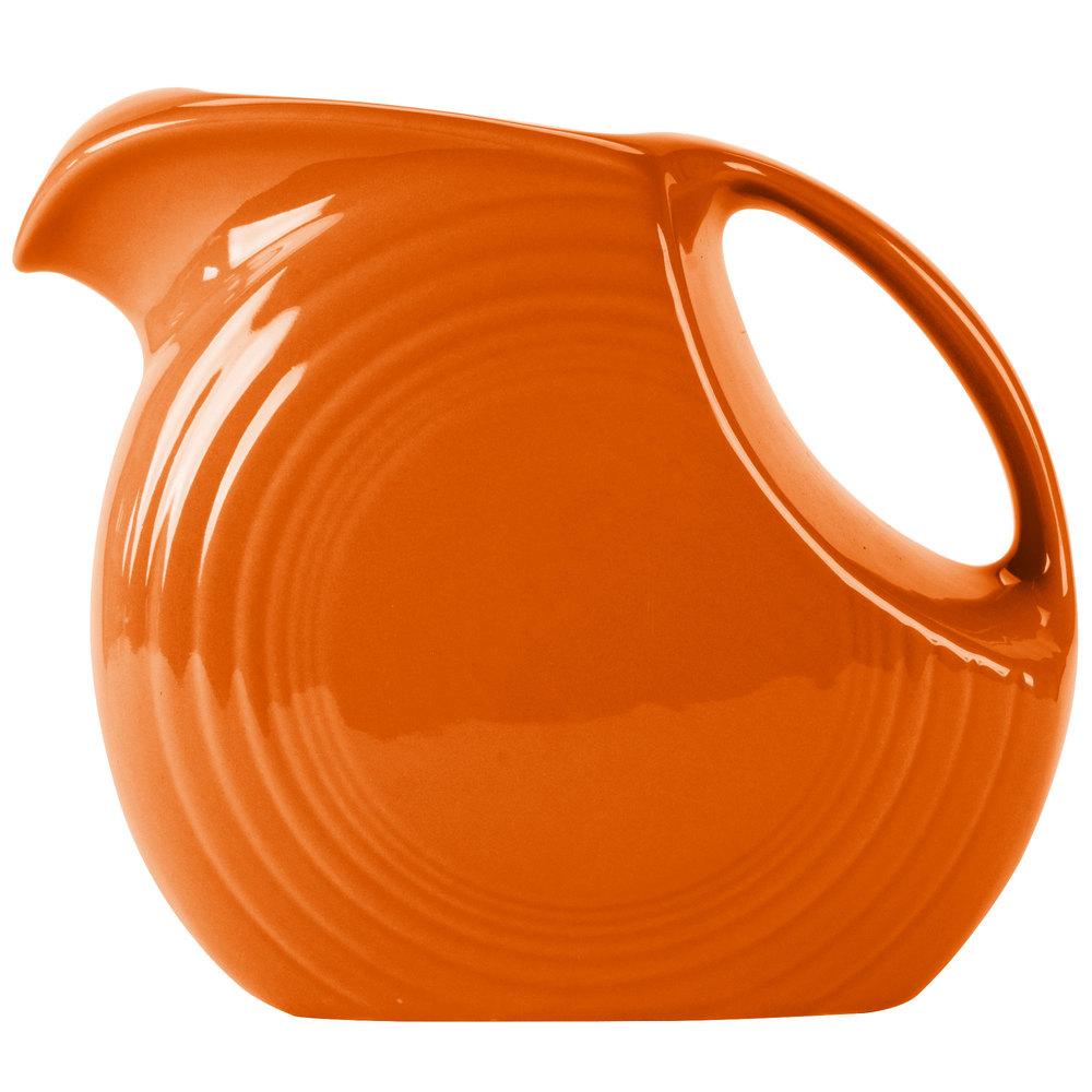 atomic orange Fiesta disc pitcher