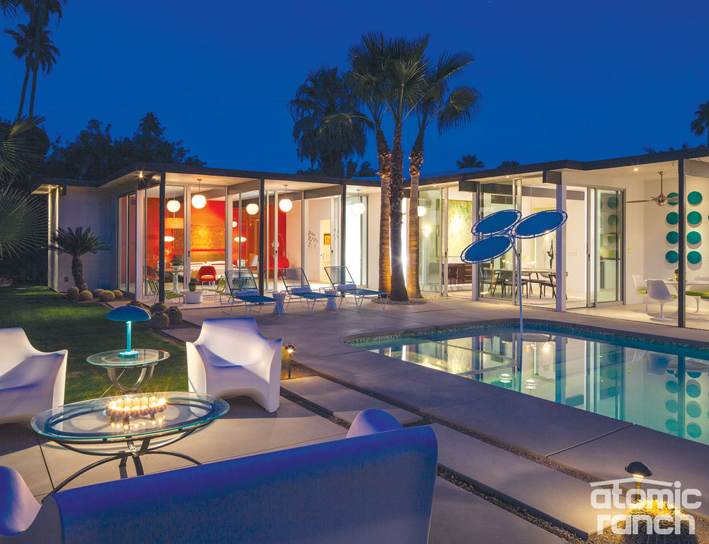 Palm Springs exterior and pool