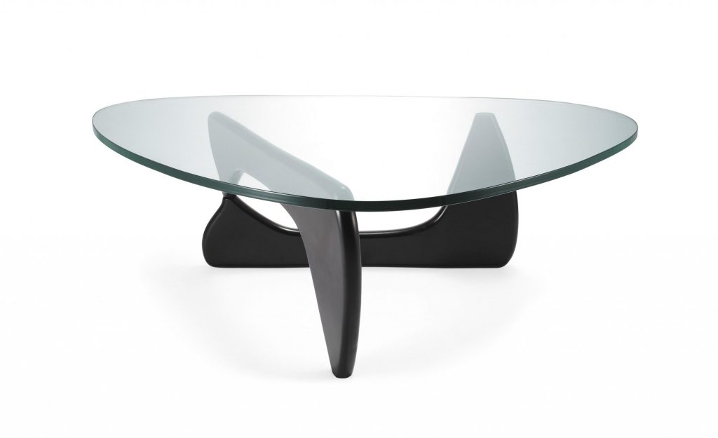 Control Brand Noguchi coffee table in matte black finish