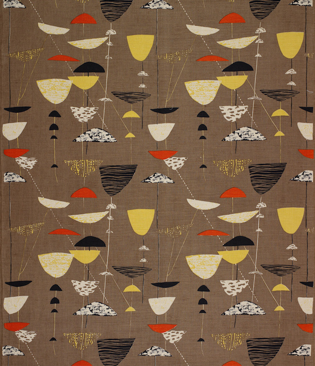 Lucienne Day is one of the premier Midcentury fabric designers.