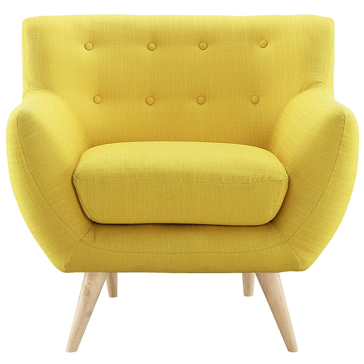 Remark armchair in sunny by Modway