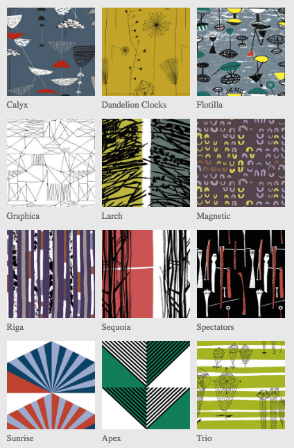 12 iconic Midcenutyr textile designs from Lucienne Day