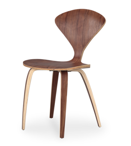 Black walnut Manta chair from Kardiel