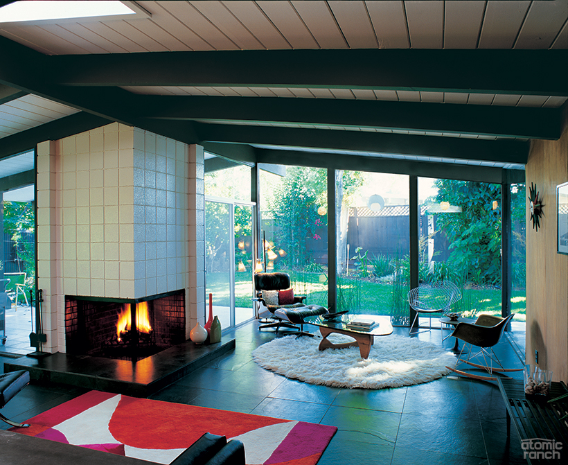 Living Room in Joseph Eichler Home