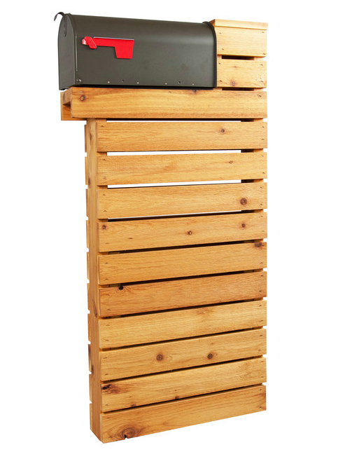 Modernist Mailbox in natural cedar