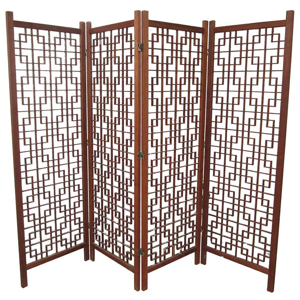 Vintage Danish teak room divider from 1stdibs