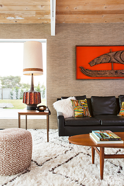 cozy midcentury modern living room