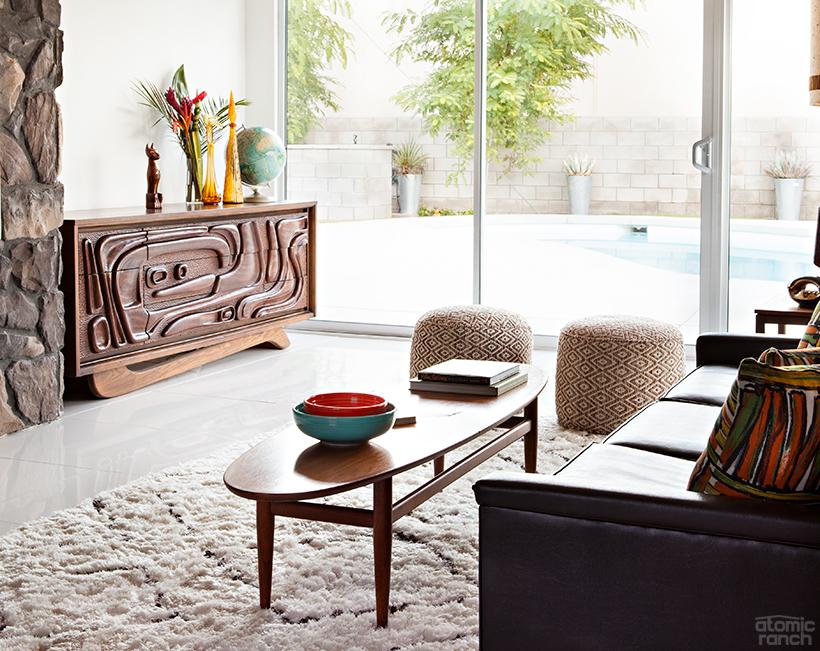 tiki credenza living room