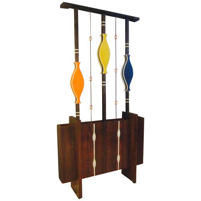 midcentury modern art room divider and planter