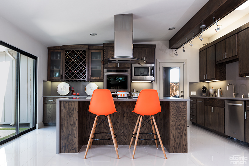 Eames in waterfall quartz kitchen