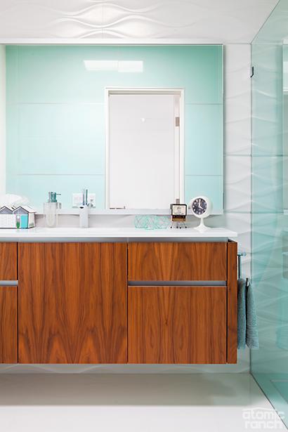 renovated bathroom in palmer krisel home