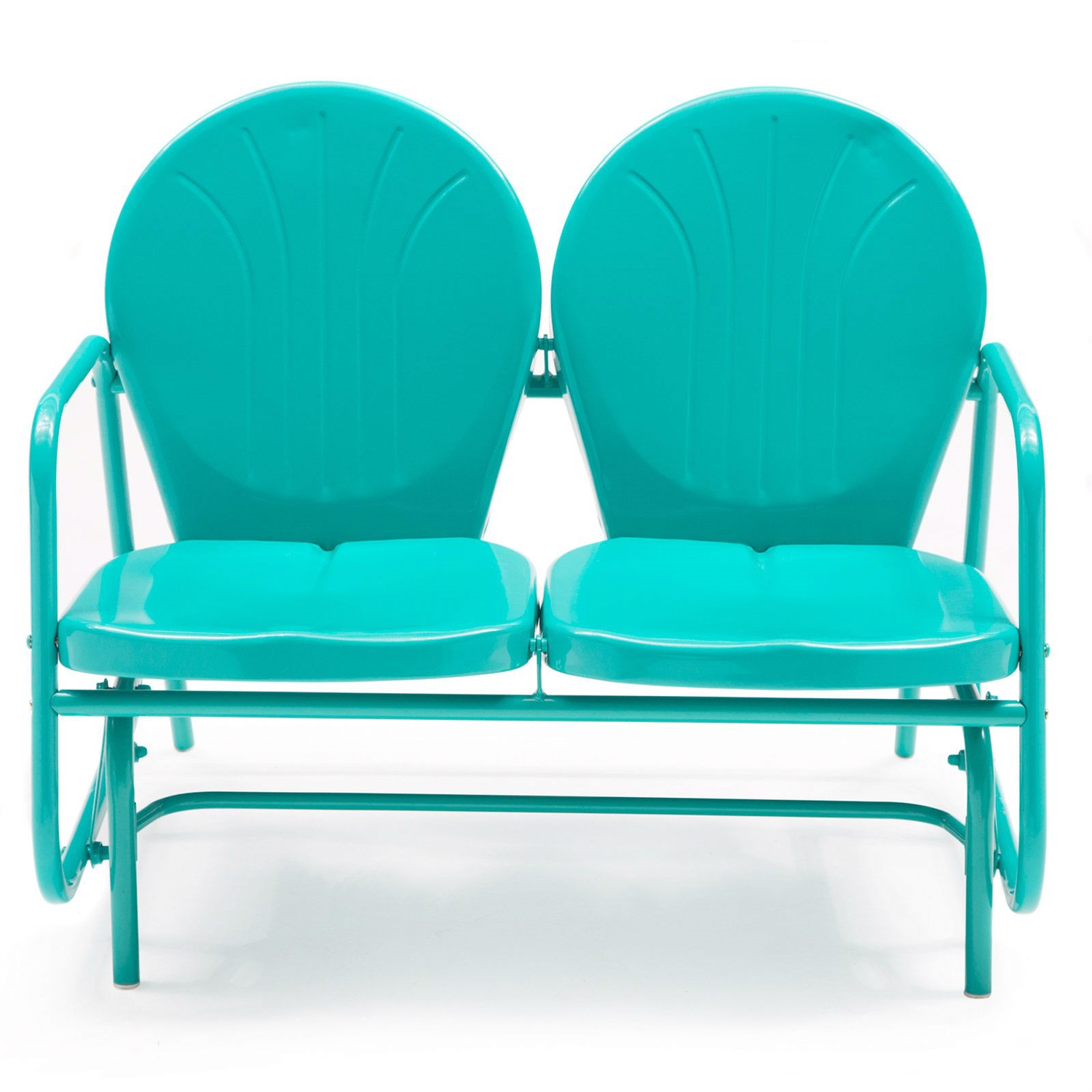 Aqua Blue Loveseat Glider Chairs