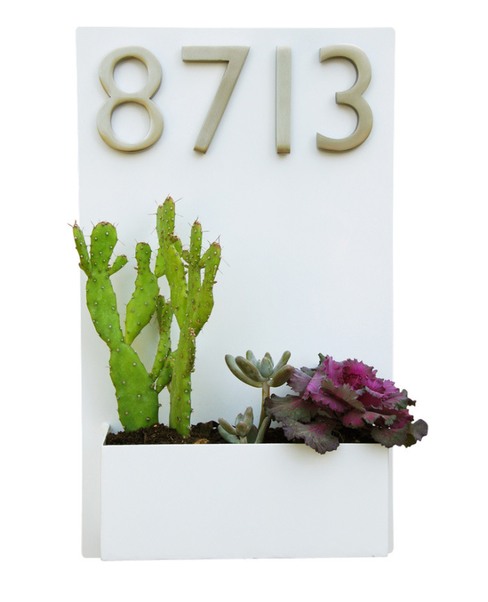 Wall Planter Address Plaque from Urban Mettle