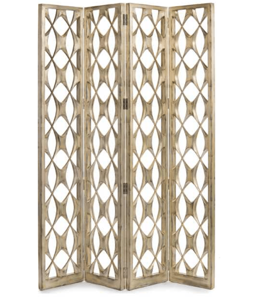 John Richard four-panel screen room divider from Luxe Decor