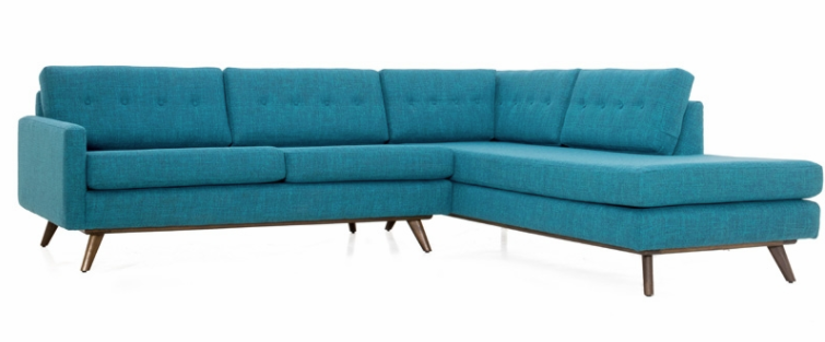 baxter sectional with bumper by inmod