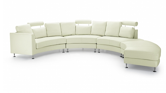 rotunde curved sectional sofa by Beliani