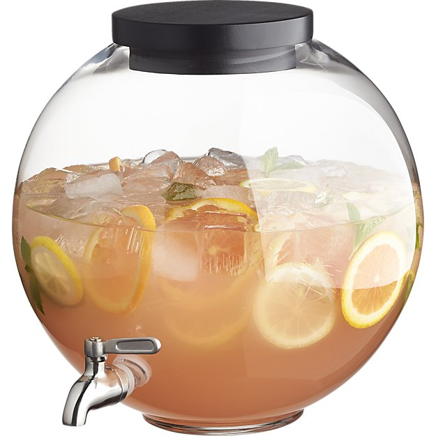 Glass beverage dispenser by CB2